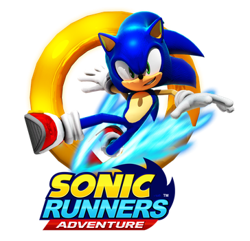 Sonic Runners Adventure Pose (With Logo) by BlueParadoxYT