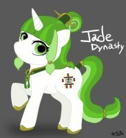 Ponies of Neighjing - Jade Dynasty [Sketch] by SoloAzume