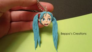 Hatsune Miku Necklace by BeppasCreations