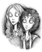 Tim Burton's Enjolras and Grantaire by xxIgnisxx