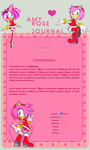 Amy Rose Journal Skin Commission by DBluver