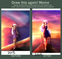 Meme Before And After - Rosalya's Sun by DollNeko