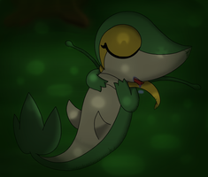 Sweet dreams, Snivy~ by DreamyNormy