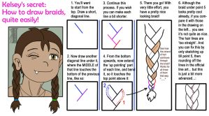 The secret of drawing braids easily (tutorial) by illionore
