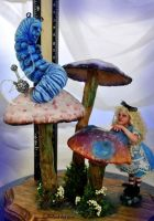 Alice and the Caterpillar by SutherlandArt