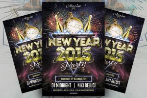New Year Party Flyer v2 by absolut2305