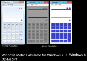 Windows 7,8 Metro Calculator by Siddharth-Bose