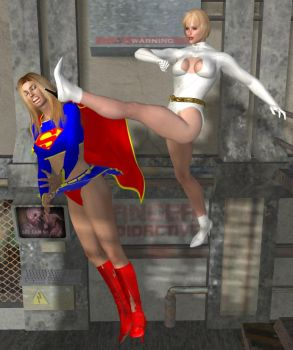 Galatea vs. Supergirl 2 by cattle6