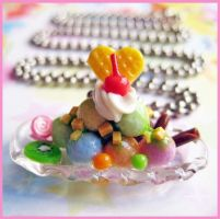 Fruity Ice Cream Necklace by cherryboop