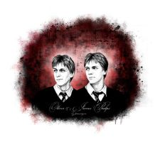 Oliver And James Phelps by Janewayne