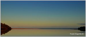 Lake and ocean sunset/ horizon by Purple-Dragonfly-Art