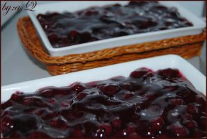 blueberry  cheese cake by amna-alq