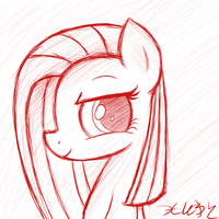 Pinkamena's Good Side (sketch) by HeavyMetalBronyYeah