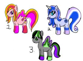 MLP Pony Adoptables Set 1 (CLOSED) by Dracosia
