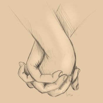 Quick Hand Study by WolfPawzArt