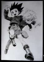 Gon and Killua by SaraDraw