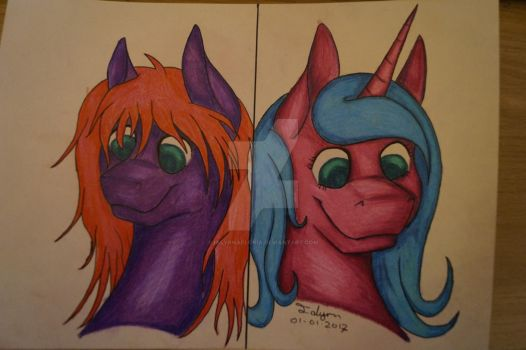 Starshine/Ialyrn - first art of the year by IalyrnAeloria