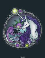 Dragon and Unicorn by Kiriska