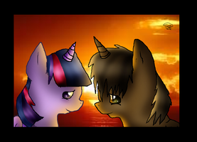 Twilight Sparkle and Courageous Heart by xAzuri-Chanx