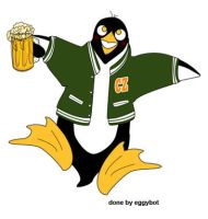 Drunken Penguin by eggybot