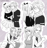 Nalu doodle dump by Andromeda15