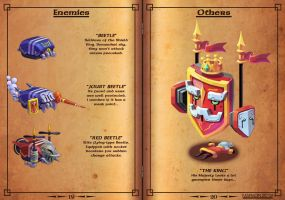 Gems of Castelaria Game Manual: Enemies and Others by Nidaram