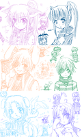 +D.Gray-man + Chibi p-chat+ by kuraudia