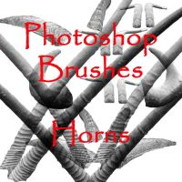 Photoshop HORNS brushes by vaia