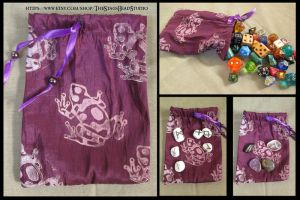 Taffeta Frog Pouch for Tarot, Dice, Runes etc. by ImogenSmid