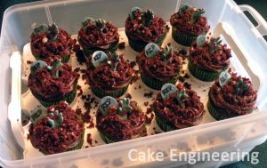 Zombie cupcakes by cake-engineering