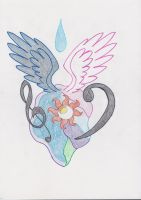 Celestia and Luna tattoo design by ssshhadow