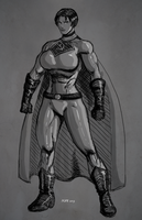 Soviet Superwoman Sketch by hulkdaddyg