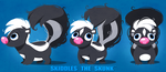 Skiddles the Skunk Turnaround by Kuitsuku