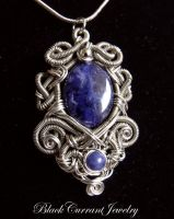 Lazuli Lake Pendant by blackcurrantjewelry