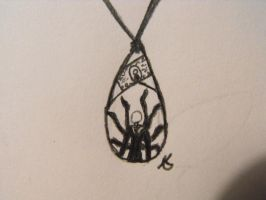 slenderman pendent drawing by suzukoyan