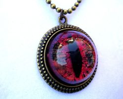 Fire and Gold Glow Pendant by LadyPirotessa