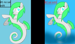 Sea Dream's new mer-pony form 1-2 by Ask-Flare22