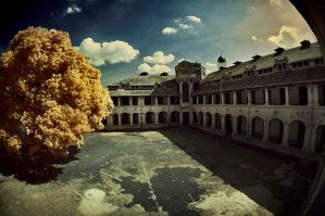 Lawang sewu in Infrared by Aerobozt