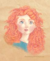 Merida Sketch - coloured by DottyDrama