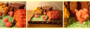 Three Little Pigs Cake by Itti