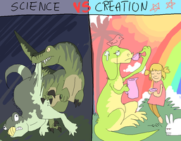 Science versus Creation by griffsnuff