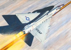 F-106A Take Off by DouglasCastleman