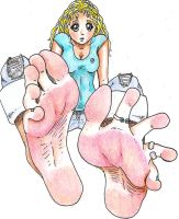 Blonde Toes by Archaelith