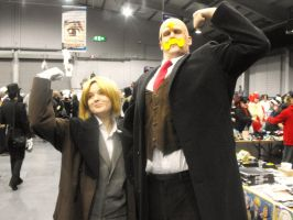Ed and Armstrong - MCM Expo by Jesikira