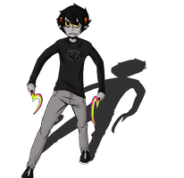 So I colored that Karkat by Sky-Suzuki