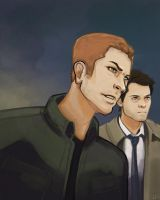 Dean and Cas by Kenu
