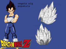 vegeta pepakura wig by Joshsonic8