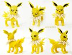 VIDEO TUTORIAL - Jolteon polymer clay by DarkyLu