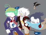 Fandomstuck - AnE, DGM, and No6 by Kit55