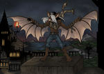 Vaugn The Werebat Haloween Pic by ZoeStead